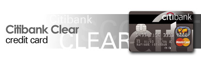 Citibank Master Clear Credit Card