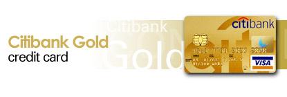 Citibank Master Gold Credit Card