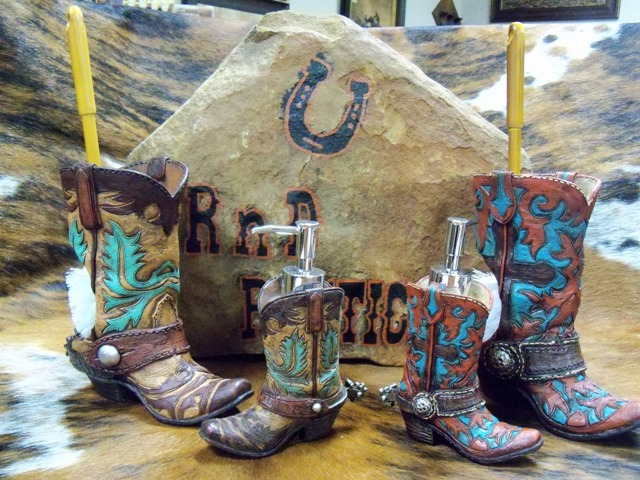 Whole Western Cowboy Boot Planter Brown Wild West Boots Vase