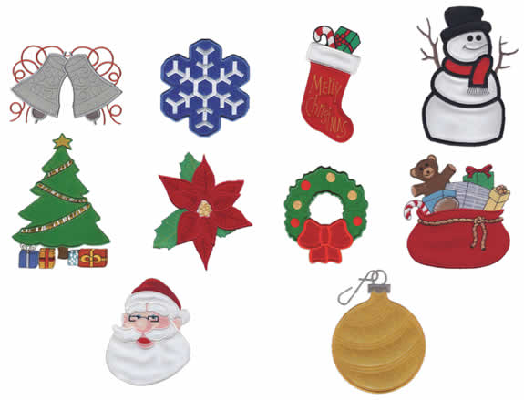 Christmas Holiday Applique Design Collection