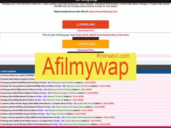 Afilmywap New Movies HD Download Site 2021