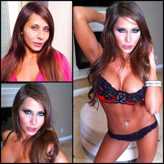 Makeup transformation of Madison Ivy