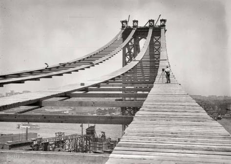 Construction of the Manhattan Bridge, 1908
