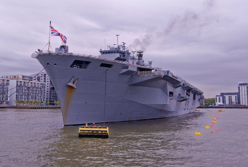 HMS Ocean Alongside Greenwich Pier