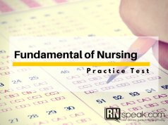 fundamental of nursing test