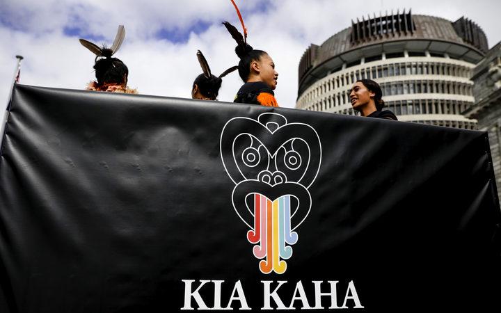 Māori language week parade in Wellington