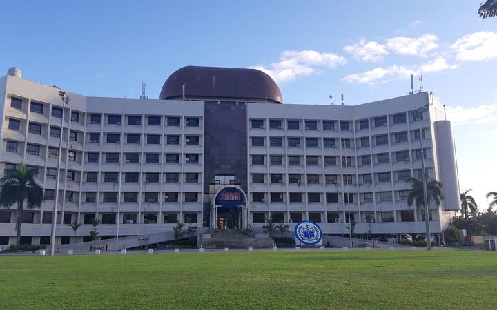 Government building in Apia, Samoa.