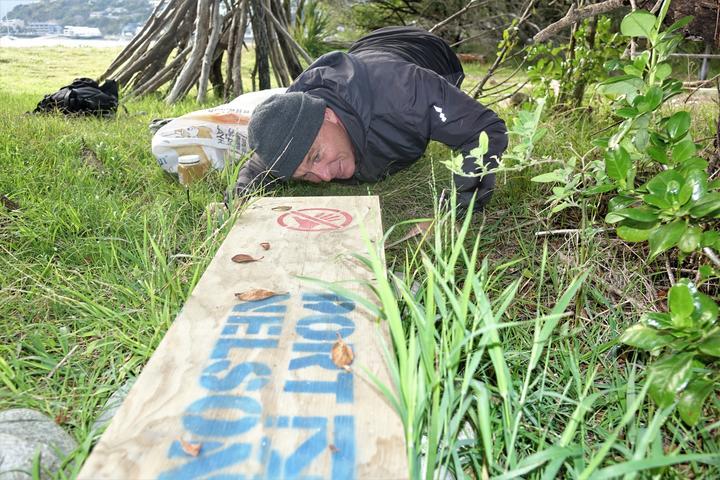 Volunteer trapper Andrew Fidler