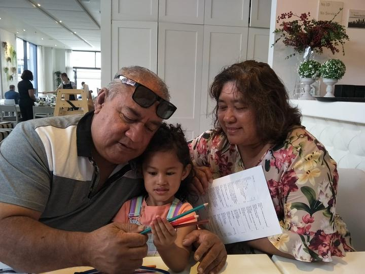 Tofiga and Lilian Su'a with their grandaughter
