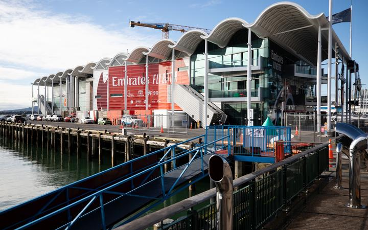 Team New Zealand base at Auckland viaduct for America's Cup