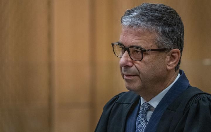 PHOTO: JOHN KIRK-ANDERSON  Sentencing for Brenton Tarrant on 51 murder, 40 attempted murder and one terrorism charge.  Christchurch mosque shootings  Crown prosecutor Mark Zarifeh