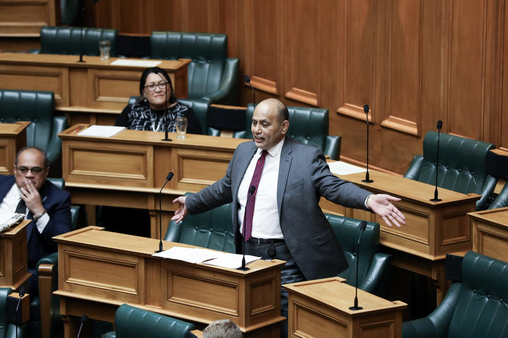 Labour MP Willie Jackson addresses the National Party during the general debate