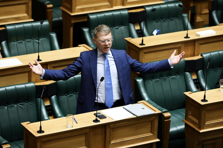 The National Party's finance spokesperson Paul Goldsmith speaks during the general debate