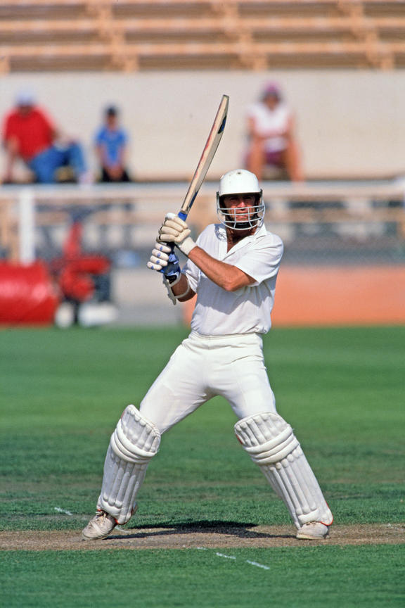 Test opening batsman John Wright playing in his final series in 1993.