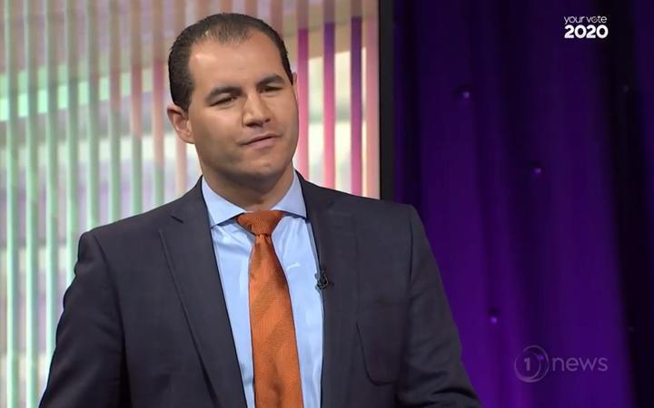 Advance NZ co-leader Jami-Lee Ross during the minor parties' debate.