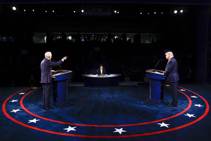 The final US presidential debate before the 3 November election. At Belmont University, Nashville, Tennessee.