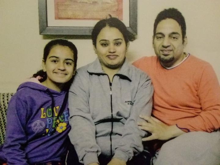 Vanita Sehgal, husband Rajeev Seghal and their daughter Mehak.