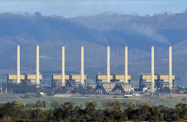 Australia's Hazelwood power station billows smoke from its exhaust stacks in the Latrobe Valley, 150km east of Melbourne, in 2009.
