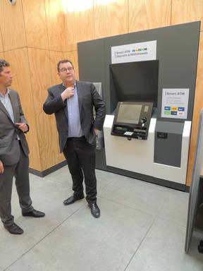 File photo: Finance Minister Grant Robertson opens the trial bank hub in Martinborough