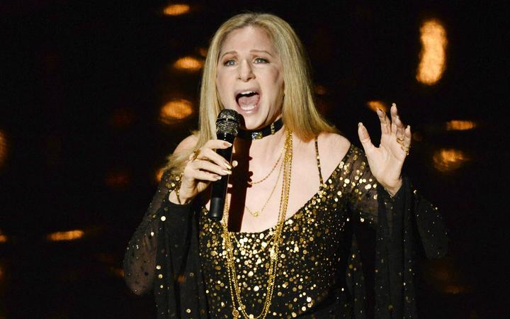 HOLLYWOOD, CA - FEBRUARY 24: Singer/actress Barbra Streisand performs onstage during the Oscars held at the Dolby Theatre on February 24, 2013 in Hollywood, California.