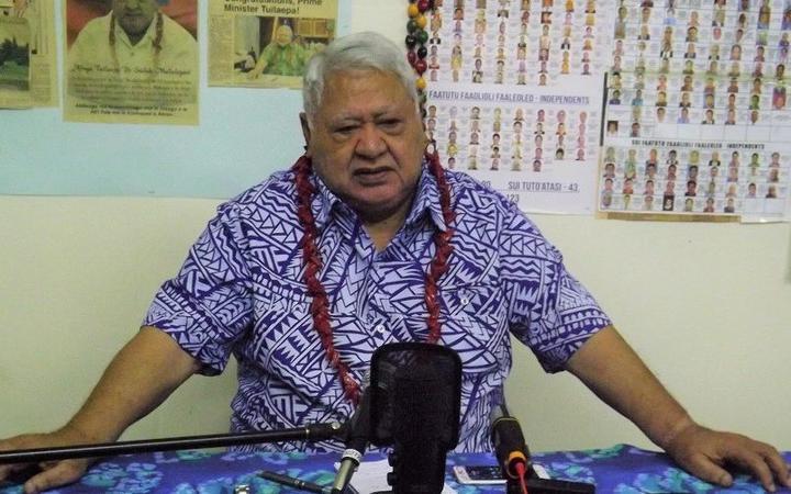 The leader of the HRPP party, Tuilaepa Sailele Malielegaoi