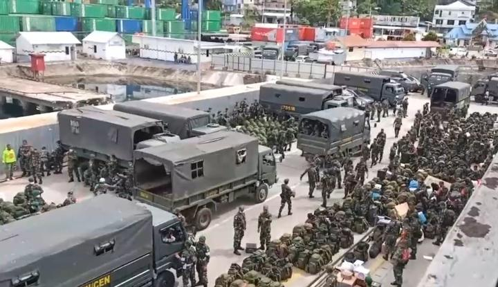 Arrival of more Indonesian troops in Jayapura, Papua, March 2021