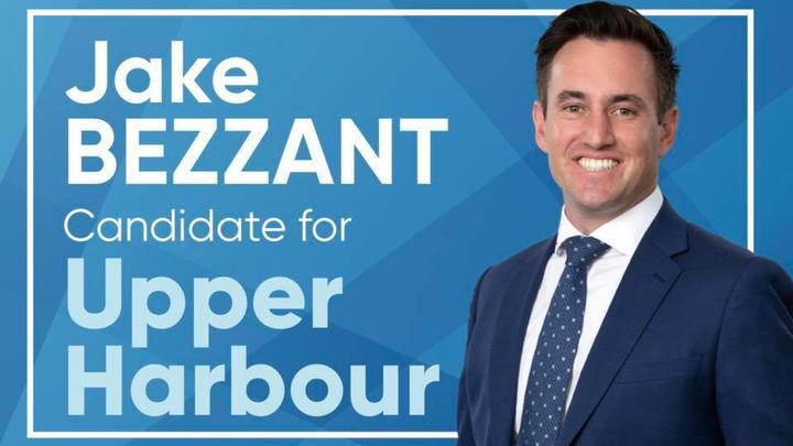 Jake Bezzant's 2020 election campaign billboard.