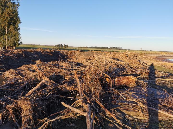 More flood damage at Anna Dale farm at Ashburton Forks