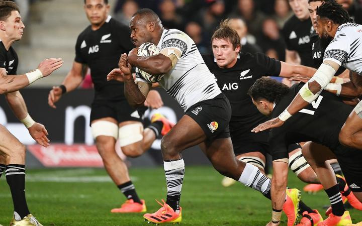 Fiji captain Levani Botia. All Blacks v Fiji, Steinlager Series, international rugby union test match. Forsyth Barr Stadium, Dunedin, New Zealand. Saturday 10 July 2021.