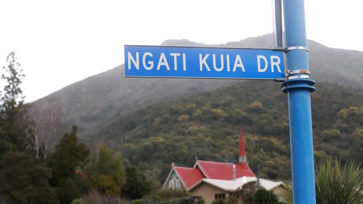 Despite Ngāti Kuia being one of eight mana whenua in Marlborough, the road named after them has been misspelled.