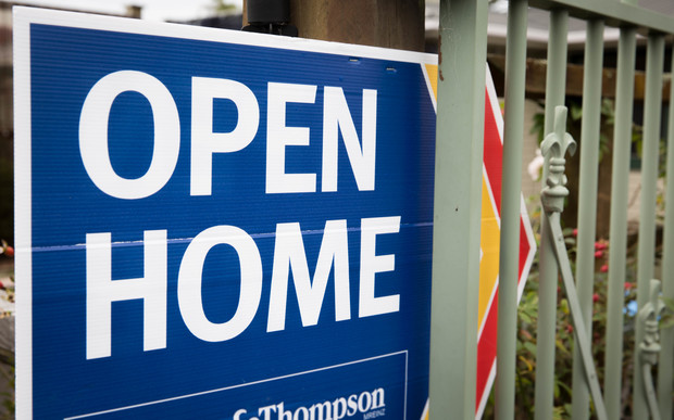 Open home sign at a house for sale in East Auckland
