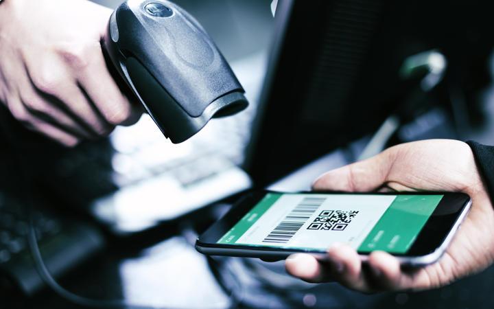 Qr code payment , online shopping , cashless technology concept
