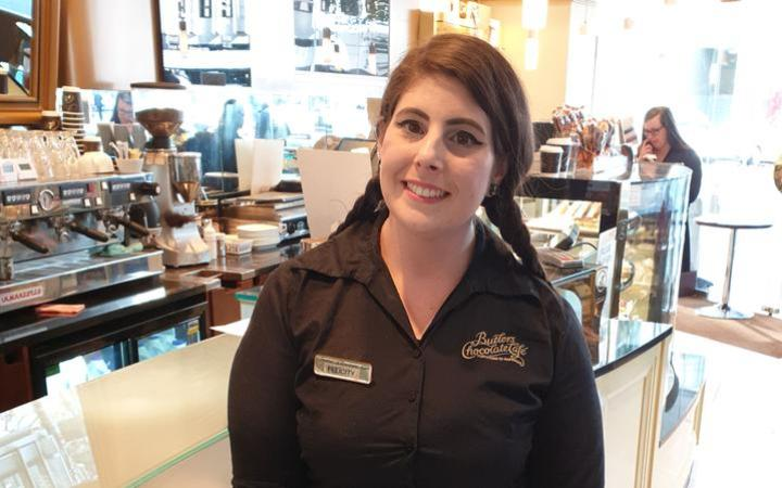 Felicity Hopkins works at Butler's Chocolate Cafe.