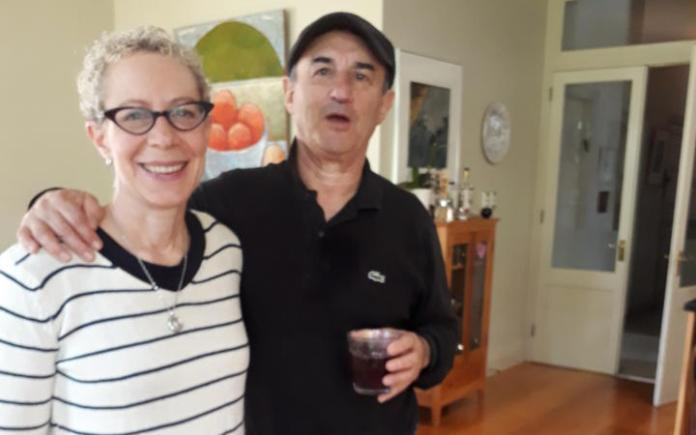 Auckland University Professor Deborah Levy with her husband Brian Bookman