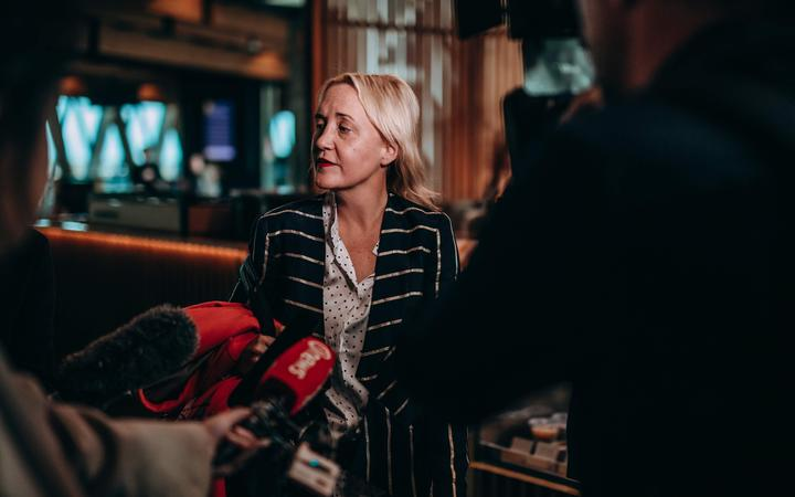 Auckland Central MP Nikki Kaye the day before a vote on the National Party's leadership. She is understood to be running on a ticket with Todd Muller.