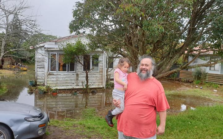 Moerewa resident Skip Kidwell says it's the fifth time his house has been flooded