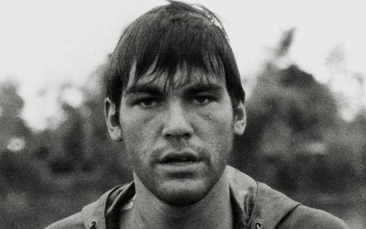 A young Oliver Stone on the cover of his 2020 memoir Chasing the Light