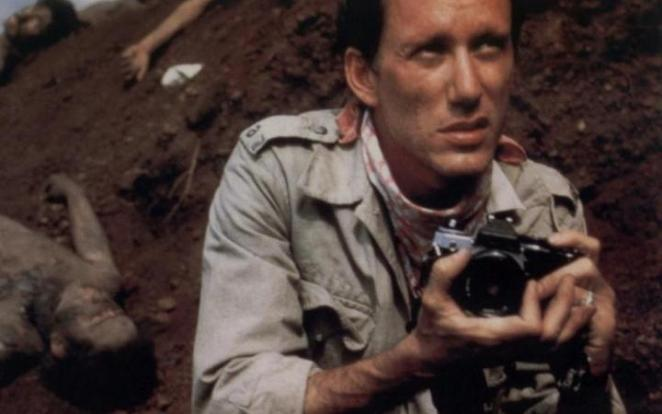 James Woods as photojournalist Richard Boyle in Oliver Stone's 1986 film Salvador