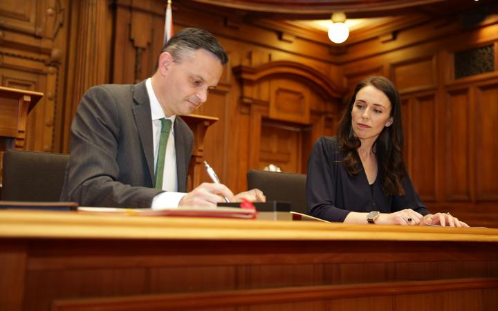 Jacinda Ardern and James Shaw have signed a confidence and supply agreement.