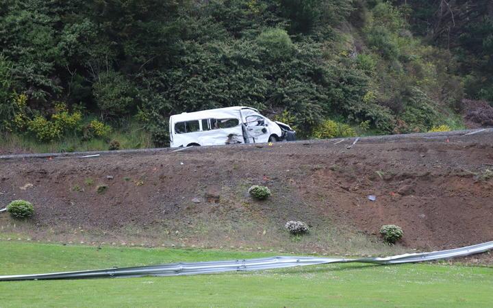 The van where a Samoan seasonal worker died near the Tarawera café on 19 October, 2020.