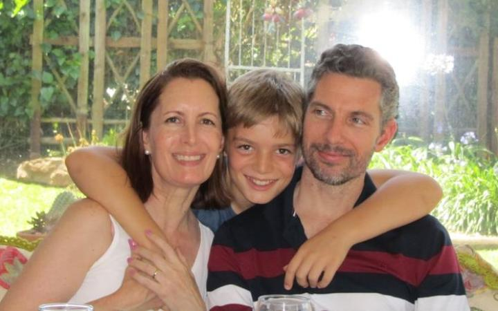 Hutt Valley High School teacher Cameron Conradie is apart from his wife Tanya and son Aidan. who are in South Africa.