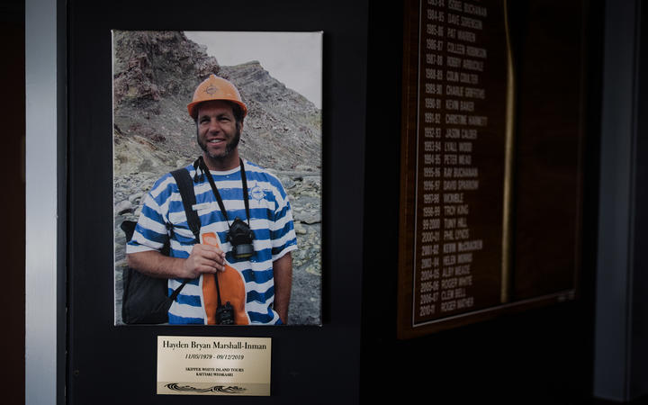 Tour guide Hayden Marshall-Inman whose body has not been recovered since the Whakaari White Island eruption.