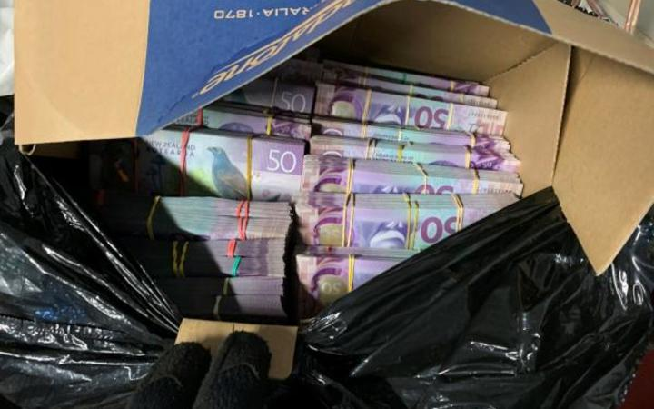 """Police found a """"few hundred thousand dollars in cash"""" during Operation Hare."""