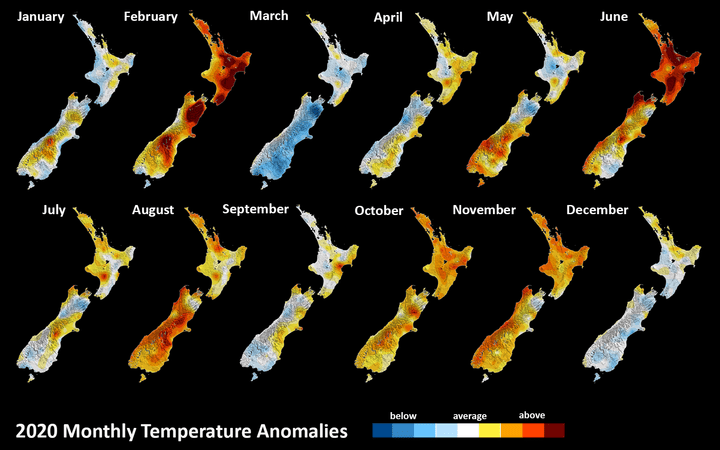 The Niwa figures show temperatures were well above averages.