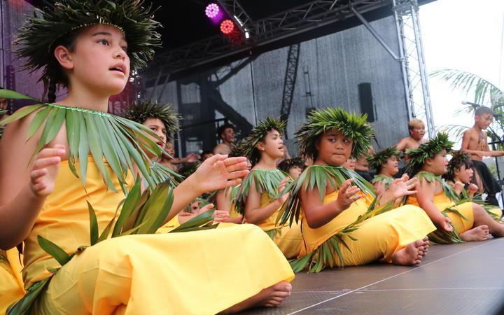 Atuhau Tupuhake - Niue Culture Group perform at the Wellington Pasifika Festival. 23 January 2021.