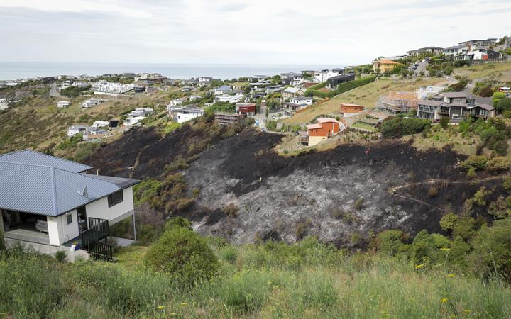 Fire crews brought a blaze in Christchurch's Port Hills under control on 25 January.