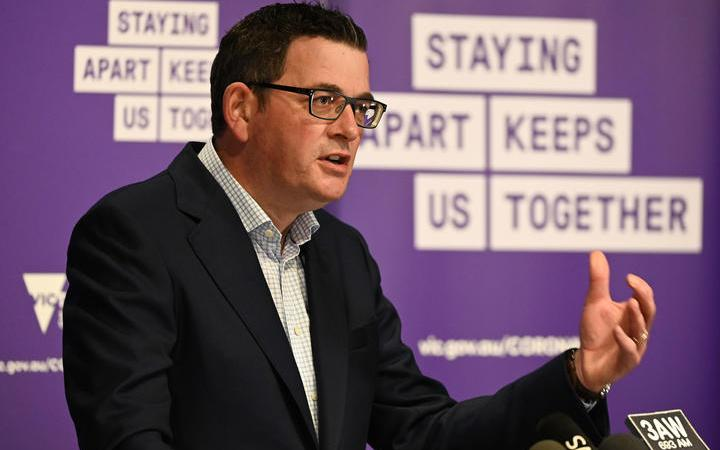 Victoria's state premier Daniel Andrews speaks during a press conference in Melbourne on August 2, 2020, announcing new restrictions to curb the spread of Covid-19.