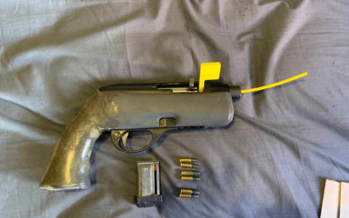 The weapon seized by police in west Waikato.