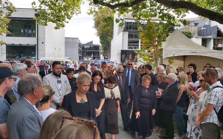 Prime Minister Jacinda Ardern and Dame Patsy Reddy were among those attending the memorial service.