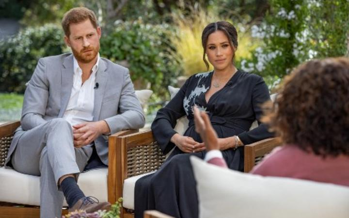 Price Harry and Meghan in conversation with Oprah Winfrey.